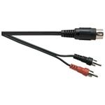 Standard 5 Pin DIN Plug to 2x Phono Plug Screened Lead