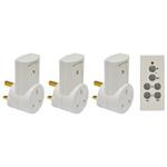 Eagle 3 Way Remote Control Mains Socket Adaptor Set