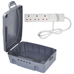 Eagle Outdoor IP 54 Rated Electrical Connection Box & 4 Gang Extension Lead