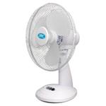 "Prem-I-Air 12"""" (30 cm) White Oscillating Desktop Fan"