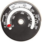 Magnetic Stove/Fireplace Thermometer
