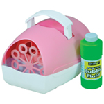 Party Time Battery Operated Bubble Machine in Pink