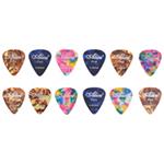 12 Assorted Colour (3 Designs) Celluloid Guitar Picks