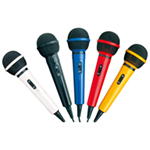 Mr Entertainer Microphone Kit with 5 Colours of Microphones