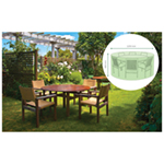 St Helens Home and Garden Water Resistant Large Round Patio Set Cover