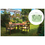 St Helens Home and Garden Water Resistant Medium Round Patio Set Cover