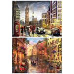 St Helens Home and Garden Twin Pack of 500Piece Jigsaw Puzzles - London to Venice