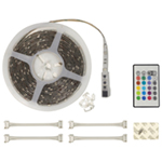 NJD LED RGB Tape Light Kit with Built-In MINI IR Receiver and 150 x 5050 LEDs (5m)