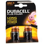 Duracell Plus Power 4x AAA Batteries